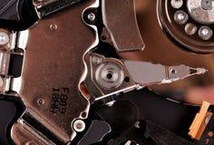 Foto macro - movimentação de disco rígido Grandes detalhes Fotografia de Stock Royalty Free