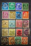 VINTAGE STAMP, GERMANY  FINE GRAFICS. Foto in the macro for perfect viewing of fine detail Royalty Free Stock Photo