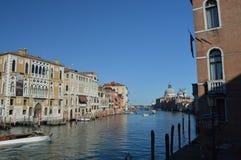 Foto maravillosa en la puesta del sol de Grand Canal en Venecia Viaje, días de fiesta, arquitectura 28 de marzo de 2015 Región de fotos de archivo libres de regalías
