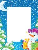 Foto-marco de la Navidad Fotografía de archivo libre de regalías