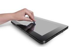 Foto med tableten Arkivfoton