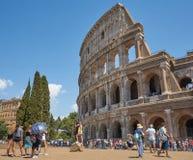 Foto met Colosseum Turisticplaats stock afbeeldingen