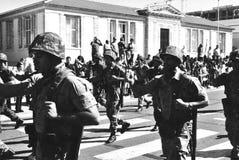 Foto militar velha da parada Imagens de Stock
