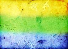 Foto mit den Farben der Brasilien-Flagge Stockbild