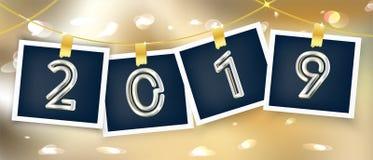 a foto 2019 molda a festão do feriado ilustração do vetor