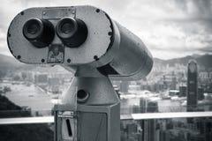 Foto monocromatica del telescopio binoculare Fotografia Stock Libera da Diritti
