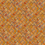 Foto naadloos patroon met fragment van muur met gebroken ceramisch royalty-vrije stock afbeeldingen