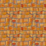 Foto naadloos patroon met fragment van muur met gebroken ceramisch royalty-vrije stock fotografie