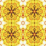 Foto Naadloos patroon van bloemen abstract bloemenornament vector illustratie