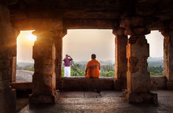 Foto no templo de Hampi Imagens de Stock Royalty Free