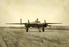 Foto nostalgica del jet fotografia stock