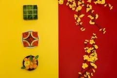Foto nova lunar da liso-configuração de Year's fotos de stock royalty free