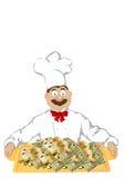 A foto o cozinheiro alegre ilustração stock