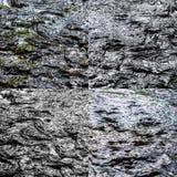 Foto och texturer av mörkt vattenflöde Arkivbild
