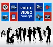 Foto- och videobegrepp Royaltyfri Fotografi