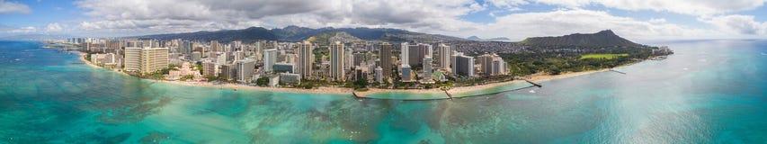 Foto panorámica aérea de Hawaii imagen de archivo
