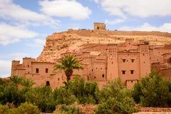 Foto panorámica de Ait Benhaddou, Marruecos Imagen de archivo