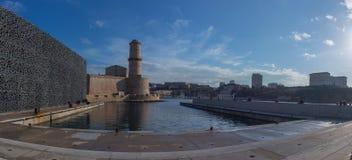 Foto panorámica de Marsella - Sunny Day Foto de archivo libre de regalías