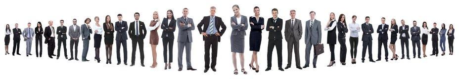 Foto panorámica de un grupo de hombres de negocios confiados imagenes de archivo