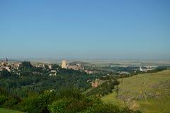 Foto panorámica hermosa del castillo del Alcazar en Segovia Arquitectura, viaje, historia fotos de archivo libres de regalías