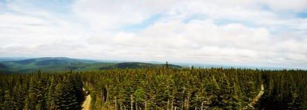 Foto panorámica: Massif Du Sud, Quebec, Canadá fotografía de archivo