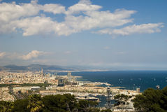 Foto panorâmico de Barcelona Fotos de Stock