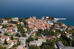 Foto panorâmico do ar de Lovran na Croácia Foto de Stock