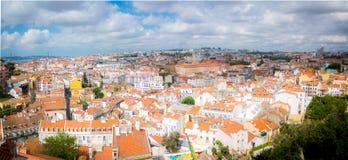 Foto panorâmico, Lisboa Imagens de Stock