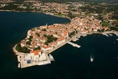 Foto panoramica aerea della penisola di Porec Immagine Stock Libera da Diritti