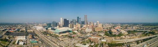 Foto panoramica aerea di Houston Texas del centro fotografia stock