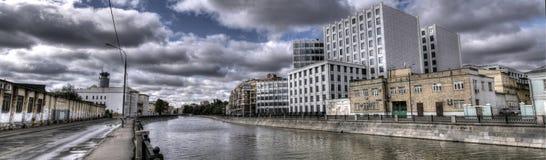 Foto panoramica del centro di Mosca Immagini Stock Libere da Diritti
