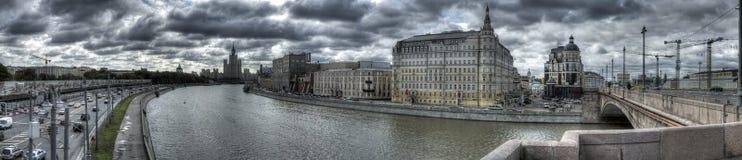 Foto panoramica del centro di Mosca Immagine Stock Libera da Diritti