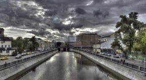 Foto panoramica del centro di Mosca Fotografia Stock