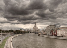 Foto panoramica del centro di Mosca Fotografie Stock Libere da Diritti