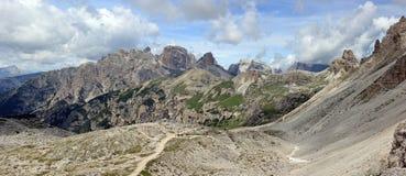 Foto panoramico Dolomiti Fotografia Stock Libera da Diritti