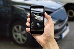 Foto para el seguro de accidente Imagenes de archivo
