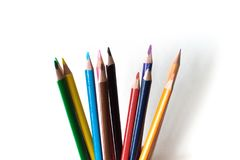 Foto of a pencil. Pencil for drawing. Stationery. The subject of the office. Royalty Free Stock Photography