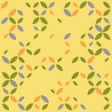 Foto piana della foto di estate infinita senza fine senza cuciture Autumn Leaf Texture Pattern L'estratto lascia il fondo creativ illustrazione vettoriale