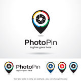 Foto Pin Template Design Vector Royaltyfria Foton