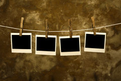 Foto polaroid vieja clásica con el fondo del grunge foto de archivo libre de regalías