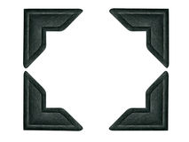 A foto preta encurrala 1 (o trajeto incluído para cada canto) Imagens de Stock Royalty Free