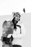 Foto preto e branco do desportista novo fotografia de stock royalty free