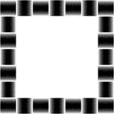 Foto quadrada do formato, moldura para retrato com o mosaico das linhas ilustração do vetor
