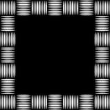 Foto quadrada do formato, moldura para retrato com o mosaico das linhas ilustração royalty free
