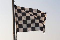 Foto a quadretti del cielo e della bandiera Fotografia Stock Libera da Diritti