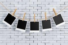 wei e bilderrahmen auf einer backsteinmauer stockbild bild 65782635. Black Bedroom Furniture Sets. Home Design Ideas