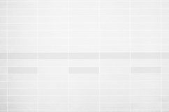 Foto reale di alta risoluzione della parete bianca delle mattonelle Fotografia Stock