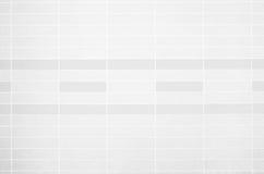 Foto reale di alta risoluzione della parete bianca delle mattonelle Modello delle forme geometriche Retro fondo dei pantaloni a v Fotografie Stock