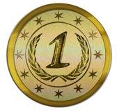 Foto Realistische Medaille - Eerste Plaats Stock Fotografie