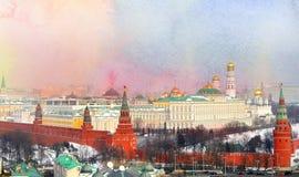Foto Retro- Moskau der Kreml Lizenzfreies Stockfoto